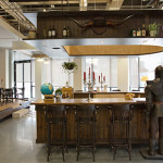 Bar à l'intérieur de l'open space Airbnb