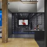 espace détente dans les bureaux de la société adobe